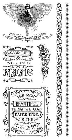 Graphic 45 Cling Mounted Rubber Stamp Set - Midnight Masquerade (C)