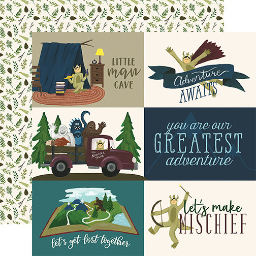 Echo Park Cut-Outs - Adventure Awaits - 4x6 Journaling Cards