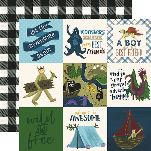 Echo Park Cut-Outs - Adventure Awaits - 4x4 Journaling Cards