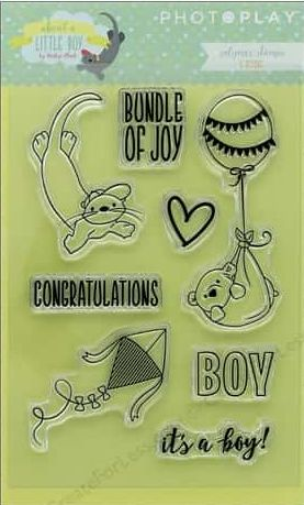 Photo Play Clear Stamp Set - About a Little Boy