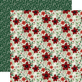 Echo Park Papers - A Cozy Christmas - Joyful Floral - 2 Sheets