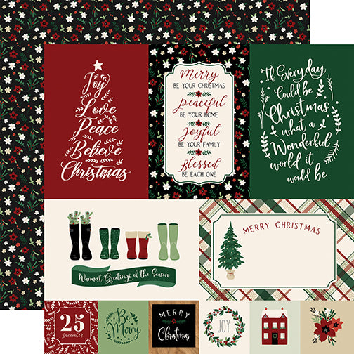 Echo Park Cut-Outs - A Cozy Christmas - Journaling Cards