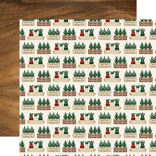 Echo Park Papers - A Cozy Christmas - Warm Wishes - 2 Sheets