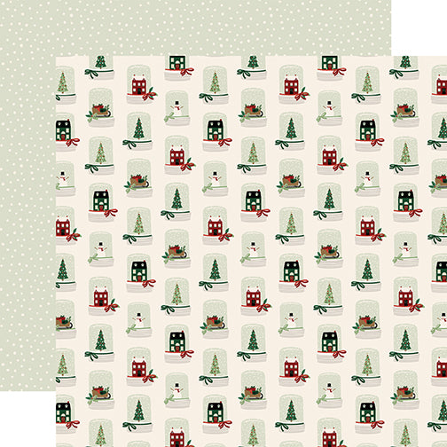 Echo Park Papers - A Cozy Christmas - Snow Globes - 2 Sheets