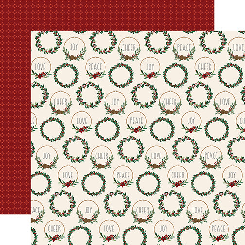 Echo Park Papers - A Cozy Christmas - Christmas Cheer - 2 Sheets