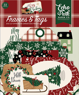 Echo Park Frames & Tags Die-Cuts - A Cozy Christmas