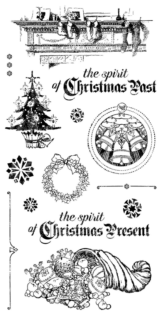 Graphic 45 Cling Mounted Rubber Stamp Set - A Christmas Carol(B)