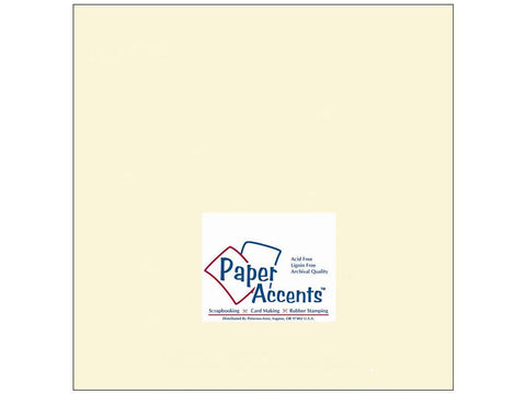 "Paper Accents™ Cardstock 12""x 12"" Smooth 65# Cream - Two Sheets"
