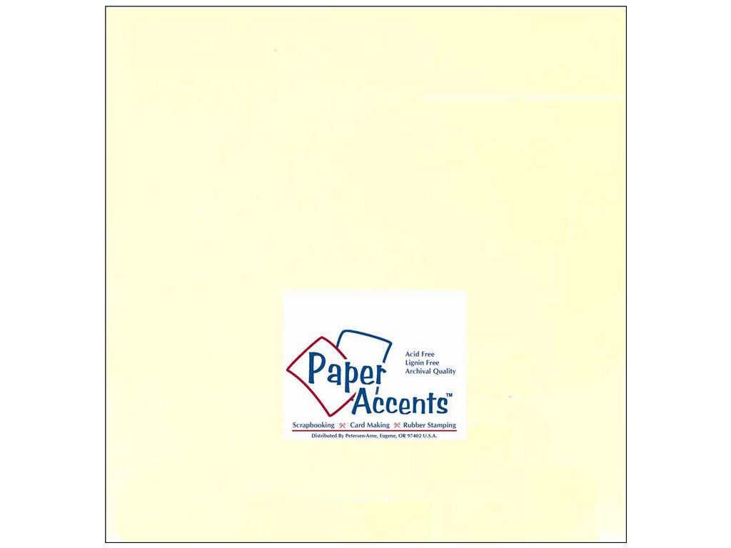 "Paper Accents™ Cardstock 12""x 12"" Smooth 60# Ivory - Two Sheets"