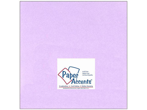 "Paper Accents™ Cardstock 12""x 12"" Smooth 60# Lavender - Two Sheets"