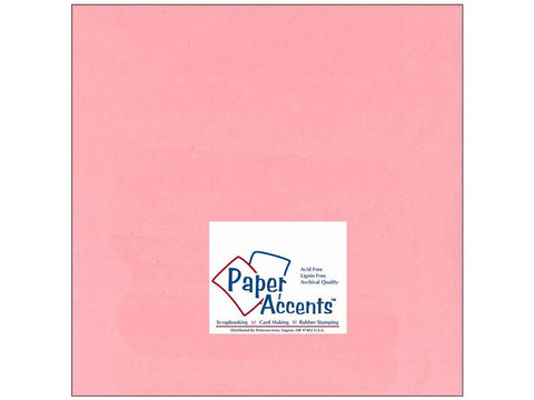 "Paper Accents™ Cardstock 12""x 12"" Smooth 60# Light Pink - Two Sheets"