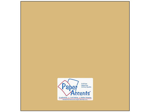 "Paper Accents™ Cardstock 12""x 12"" Smooth 74# Quick Sand - Two Sheets"