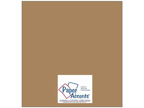 "Paper Accents™ Cardstock 12""x 12"" Recycled 65# Brown Bag - Two Sheets"
