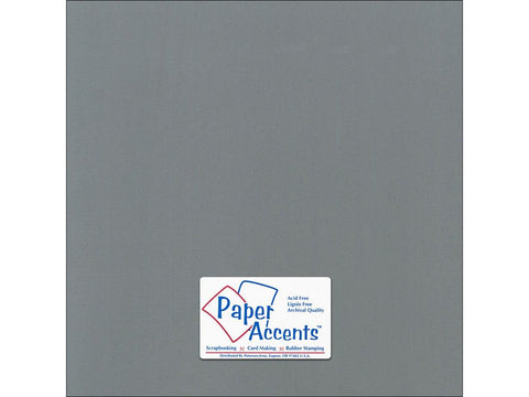 "Paper Accents™ Cardstock 12""x 12"" Canvas 80# Cloak Gray - Two Sheets"