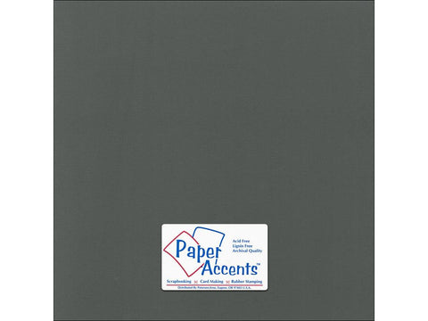 "Paper Accents™ Cardstock 12""x 12"" Canvas 80# Charcoal - Two Sheets"