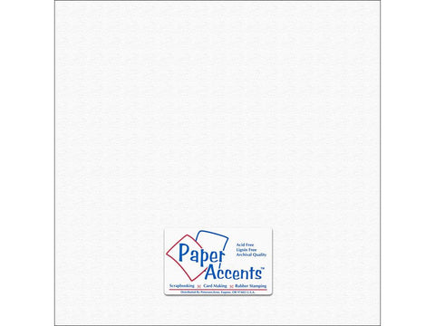 "Paper Accents™ Cardstock 12""x 12"" Canvas 80# Snowbound - Two Sheets"