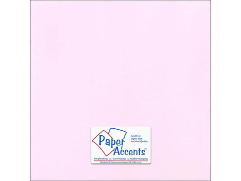 "Paper Accents™ Cardstock 12""x 12"" Canvas 80# Pale Blossom - Two Sheets"