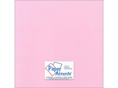 "Paper Accents™ Cardstock 12""x 12"" Canvas 80# Sweetie Pie - Two Sheets"