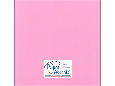 "Paper Accents™ Cardstock 12""x 12"" Canvas 80# Pink Punch - Two Sheets"