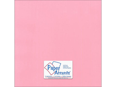"Paper Accents™ Cardstock 12""x 12"" Canvas 80# Coral Rose - Two Sheets"