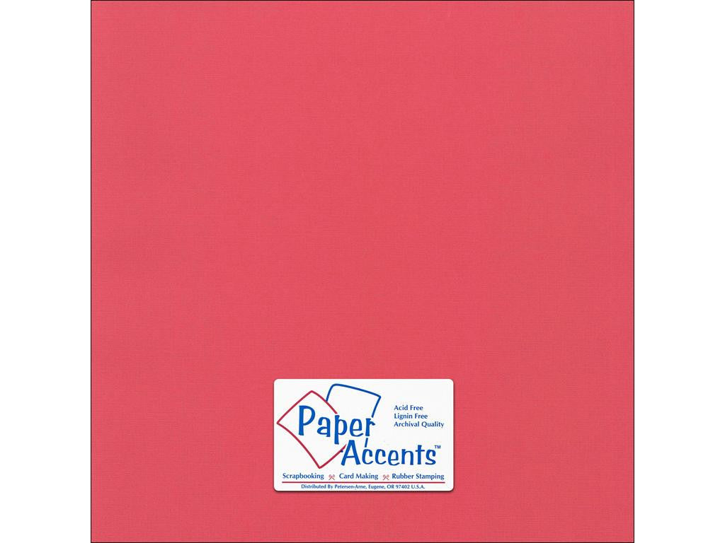 "Paper Accents™ Cardstock 12""x 12"" Canvas 80# Pimento - Two Sheets"