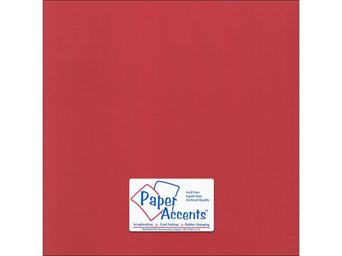 "Paper Accents™ Cardstock 12""x 12"" Canvas 80# Dare Devil - Two Sheets"