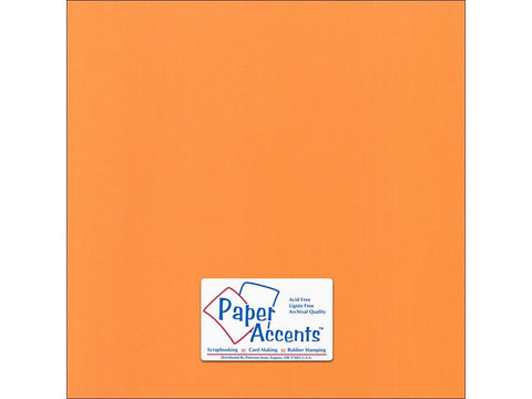 "Paper Accents™ Cardstock 12""x 12"" Canvas 80# Sweet Potato - Two Sheets"