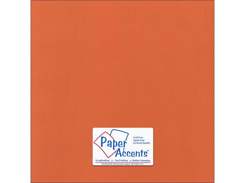 "Paper Accents™ Cardstock 12""x 12"" Canvas 80# Mandarin - Two Sheets"