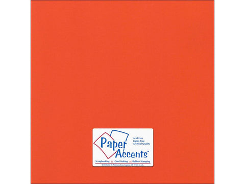 "Paper Accents™ Cardstock 12""x 12"" Canvas 80# Harvest Orange - Two Sheets"