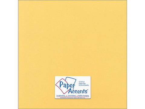 "Paper Accents™ Cardstock 12""x 12"" Canvas 80# Tuscan Sun - Two Sheets"