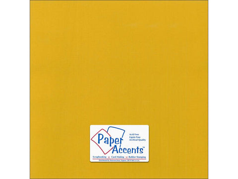 "Paper Accents™ Cardstock 12""x 12"" Canvas 80# Goldenrod - Two Sheets"