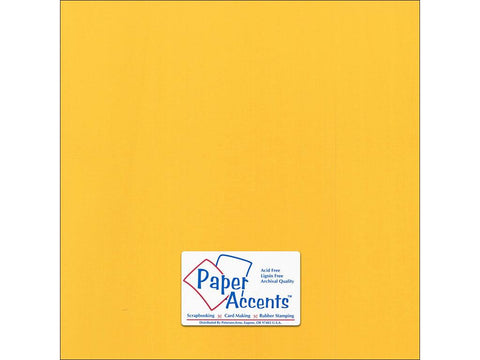 "Paper Accents™ Cardstock 12""x 12"" Canvas 80# Banana Pepper - Two Sheets"