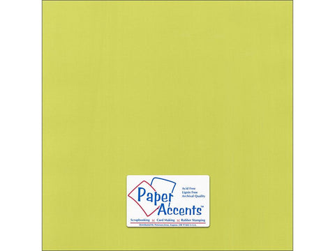 "Paper Accents™ Cardstock 12""x 12"" Canvas 80# Limelight - Two Sheets"