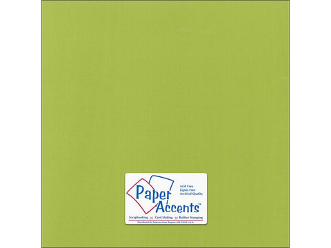"Paper Accents™ Cardstock 12""x 12"" Canvas 80# Mint Julep - Two Sheets"