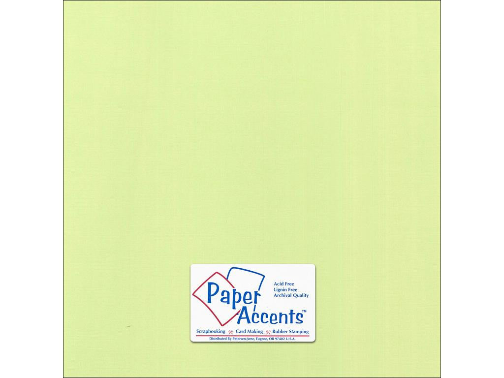 "Paper Accents™ Cardstock 12""x 12"" Canvas 80# Lime Pop - Two Sheets"