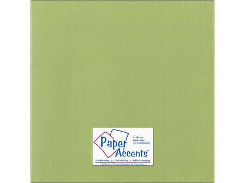 "Paper Accents™ Cardstock 12""x 12"" Canvas 80# Grasshopper - Two Sheets"