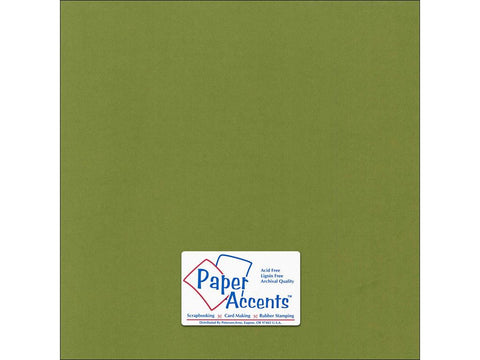 "Paper Accents™ Cardstock 12""x 12"" Canvas 80# Spanish Moss - Two Sheets"