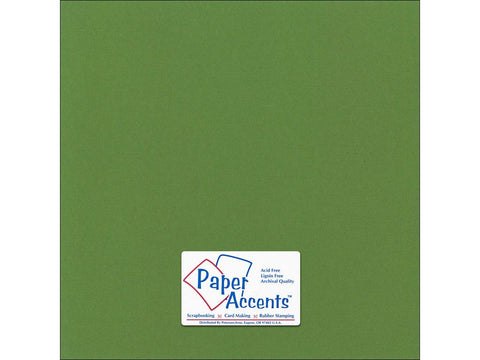 "Paper Accents™ Cardstock 12""x 12"" Canvas 80# Parrot - Two Sheets"