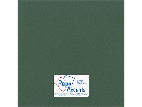 "Paper Accents™ Cardstock 12""x 12"" Canvas 80# Evergreen - Two Sheets"