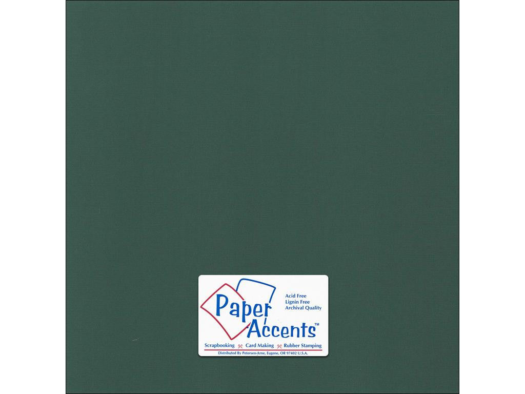 "Paper Accents™ Cardstock 12""x 12"" Canvas 80# Pine Forest - Two Sheets"