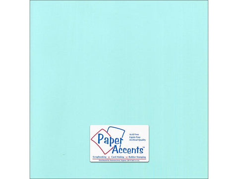 "Paper Accents™ Cardstock 12""x 12"" Canvas 80# Spearmint - Two Sheets"