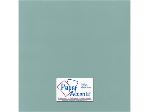 "Paper Accents™ Cardstock 12""x 12"" Canvas 80# Aquamarine - Two Sheets"