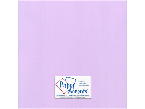 "Paper Accents™ Cardstock 12""x 12"" Canvas 80# Lilac Mist - Two Sheets"