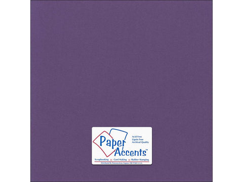 "Paper Accents™ Cardstock 12""x 12"" Canvas 80# Grape Vine - Two Sheets"