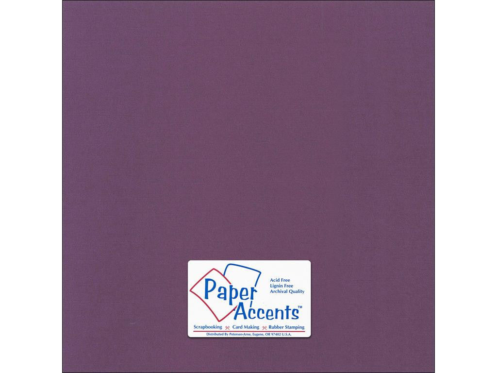 "Paper Accents™ Cardstock 12""x 12"" Canvas 80# Concord Jam - Two Sheets"