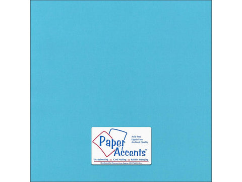 "Paper Accents™ Cardstock 12""x 12"" Canvas 80# Poolside - Two Sheets"
