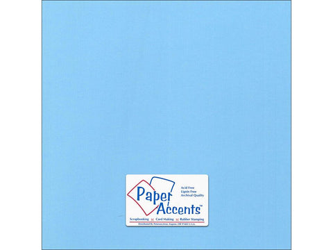 "Paper Accents™ Cardstock 12""x 12"" Canvas 80# Madras Blue - Two Sheets"