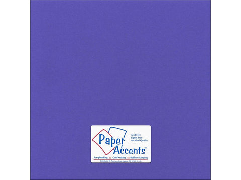 "Paper Accents™ Cardstock 12""x 12"" Canvas 80# Comodore Blue - Two Sheets"