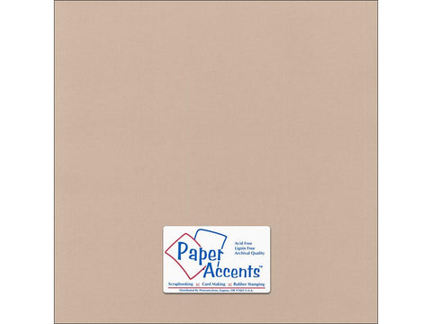 "Paper Accents™ Cardstock 12""x 12"" Canvas 80# Sandy Beach - Two Sheets"