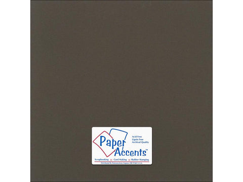 "Paper Accents™ Cardstock 12""x 12"" Canvas 80# Brown Eyes - Two Sheets"